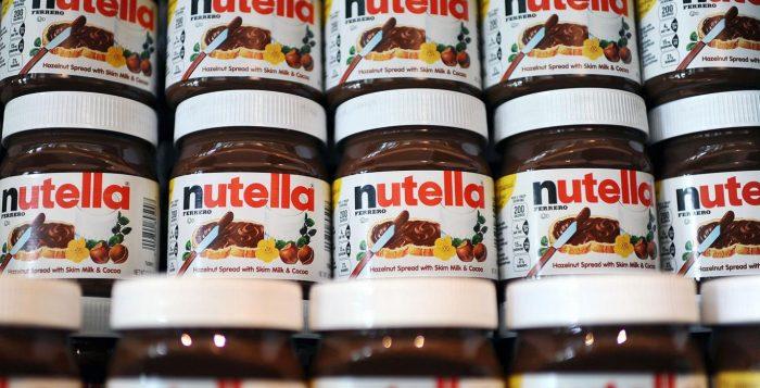 nutella removida dos supermercados